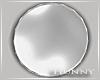 H. Silver Round Mirror