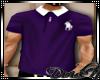 D: Purple/White Polo