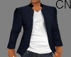 Blu Coat+shirt