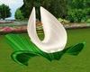 White Rose Lotus Chair