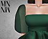 MxN Emerald Puff Sleeve