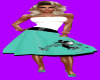 50's Teal Elvis Skirt