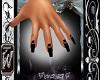 black heart nails