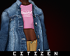 c | Denim Jacket & Tee f