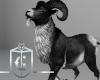 Goat Pet Black White