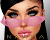 ♛ PINK CATEYES GLASSES