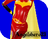 (AH23)Red batgirl cape