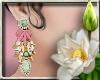 (LN)Floral Earrings