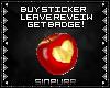 S; Badge - Heart Apple