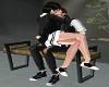 School Bench Kiss