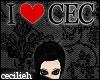 ! i heart cec - headsign