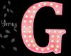 Pink Wood Letter G