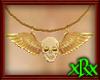 Skull w/Wings Necklace
