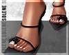 s. Fur Baby Heels Black