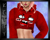 ! Kpop Face Hoody Red