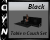 Black Table n Couch Set