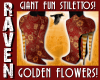GOLD FLOWERS FUN STILETT