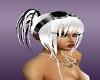 whiteblack rave hair