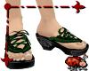 Babouche Sandals- Green