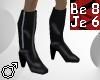Black PVC KneeHigh Boots