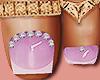 Feet Gold Rings Purple
