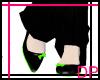 [DP] Black & Lime Flats