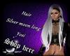 Hair Silver moon Yosi