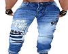 Distress Straight Jeans
