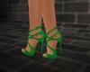 -1m- Green heels