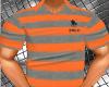 (AA) Orange&Grey Polo