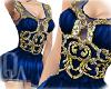 ^QA^ Blue Wedding Dress