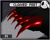 ~DC) Clawed Feet [red]