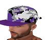 purple camo cap