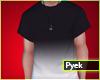 black white t shirt