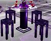 Z Purple Goth Bar Table
