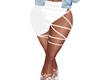 Satin White Skirt