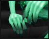Dark Teal Paws ~ Hands