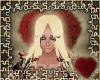 long blonde & red hair