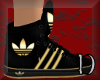 Adidas black & gold F
