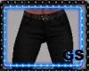 """GS"" BLACK CASUAL PANTS"