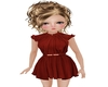 Kid red dress  sara