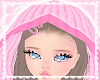 pink knit hood! ♡