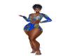 Blue African hair/wrap