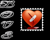 ~D~ Broken heart stamp