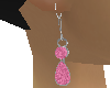 Pink Emerald Womans Ear