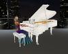 Elegant White Piano