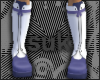 Purple & White Boots