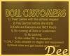 Doll Customer SIgn