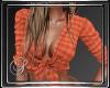 (SL)Orange Plaid Tie Top