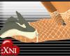 X Crochet & Satin Heels